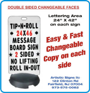 Tip N Roll Changeable Sign